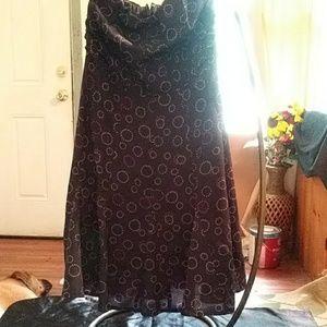 Strapless junior dress
